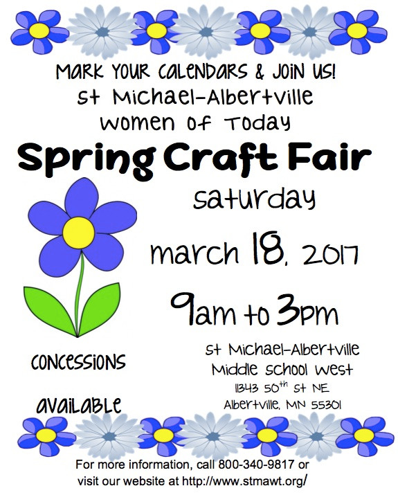 Spring Craft Fair - Coming Soon!