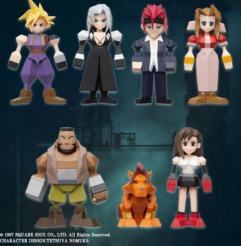 Square Enix Final Fantasy VII Polygon Figure (Blind Box of 8)