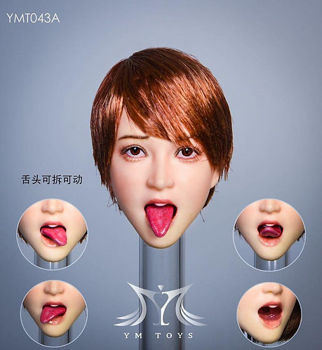 YMTOYS YMT043 Tongue Honey 1/6 Headsculpt (with removable tongue)