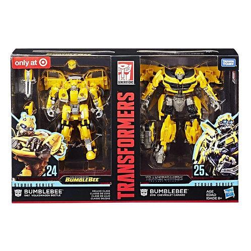 Hasbro Transformers Studio Series 24 and 25 Deluxe Class Bumblebee 2-Pack
