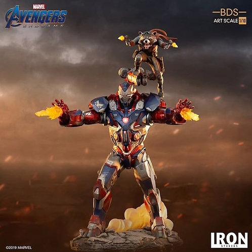Iron Studios 1/10 Art Scale Endgame Iron Patriot & Rocket Statue