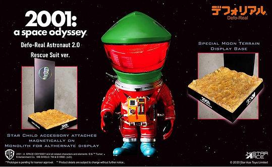Star Ace Toys SA6029 DF Astronaut (Green Rescue ver. w/ Monolith & Star Child)