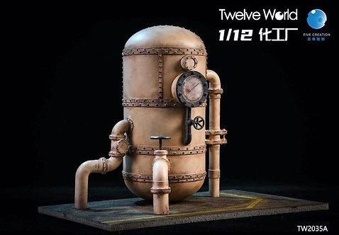 TWTOYS X FIVETOYS TW2035 Chemical Plant Scene Platform 1/12 Diorama