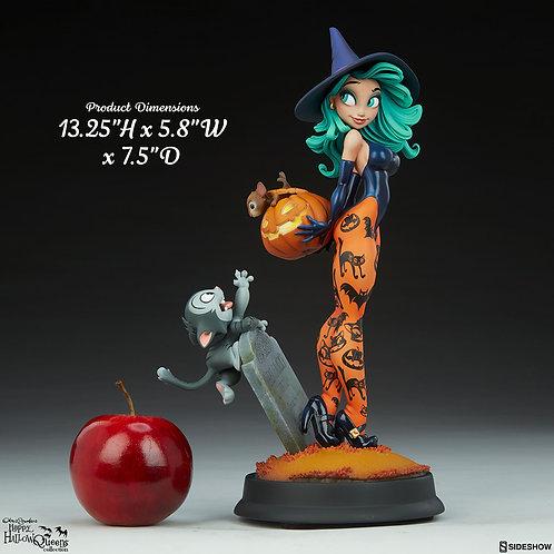 Sideshow Pumpkin Witch Statue