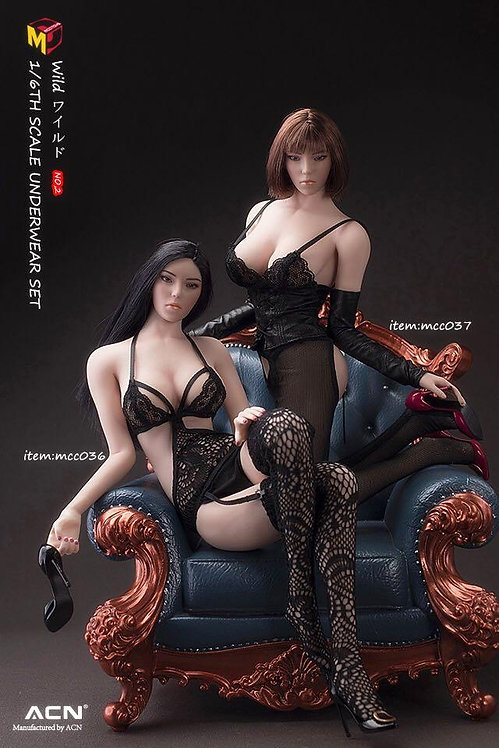 MCCTOYS MCC036 & MCC037 1/6 Exquisite Underwear Wild Series No.2