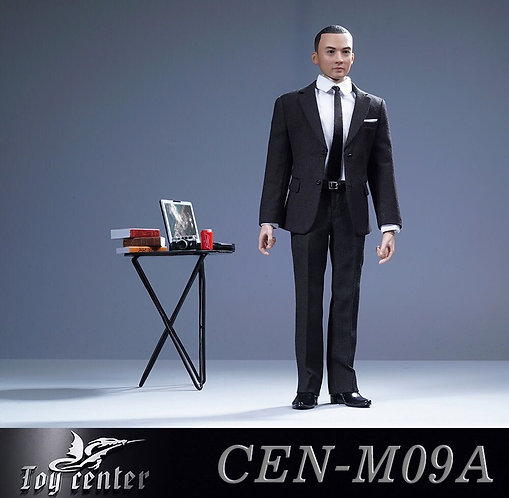 Toy Center CEN-M09A 1/6 British Suit For Men (Black)