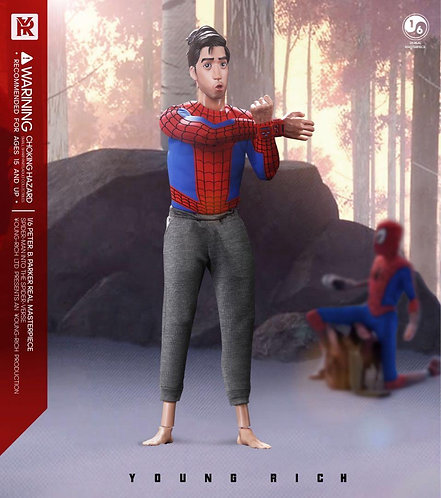 YOUNG RICH TOYS SP006 - 1/6 Spider-Man Parallel World Middle-aged Parker Amateur