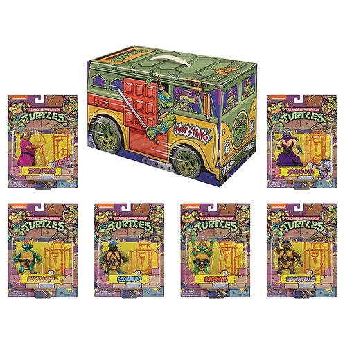 Playmates TMNT Retro Rotocast 6-Piece Action Figure Box Set SDCC 2020 PX
