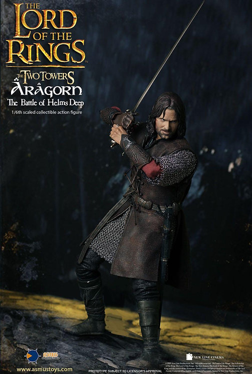 Asmus Toys LOTR025 The LOTR: Aragorn at Helms Deep 1/6 Figure