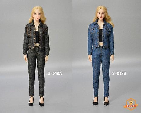 SGTOYS S-019 Ladies Denim Suit 1/6 Costume Set