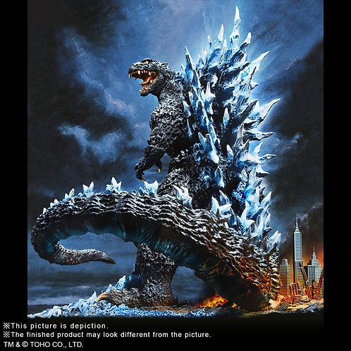 X-Plus Polystone Series - Yuji Sakai Godzilla 2004 Poster Version