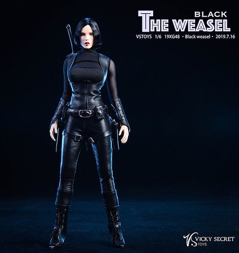 VSTOYS 19XG48A Black Weasel with Headsculpt 1/6 Costume