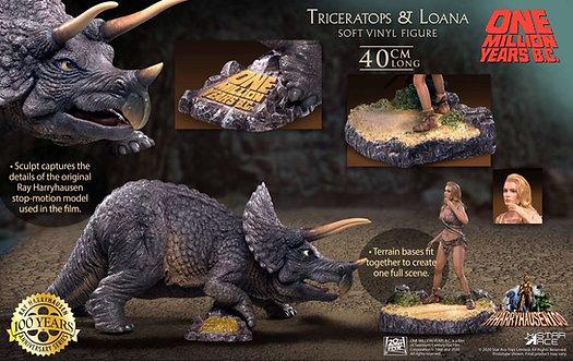 Star Ace Toys SA9012 Triceratops & Loana (with Dioramas base)