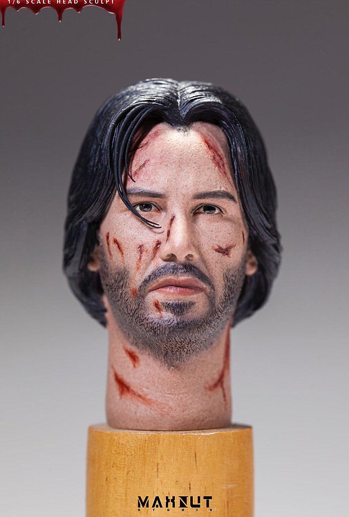 MAXNUT Studio MS-M002 John Wick Battle Damaged 1/6 Head Sculpt
