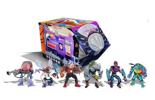 Playmates Teenage Mutant Ninja Turtles Retro Villains Module Rotocast  6-Pack PX