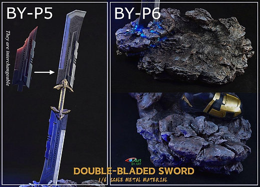 BY-ART BY-P5 Double-Bladed Sword / BY-P6 Base