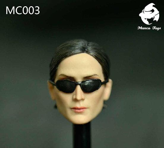 Manco Toys MC003 The Matrix Trinity 1/6 Headsculpt