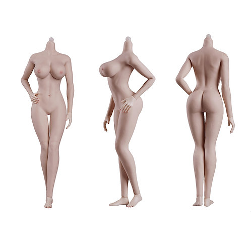 Jiaou JOQ-10E-PM (Pink Skin) European Shape 1/6 Female Seamless Body