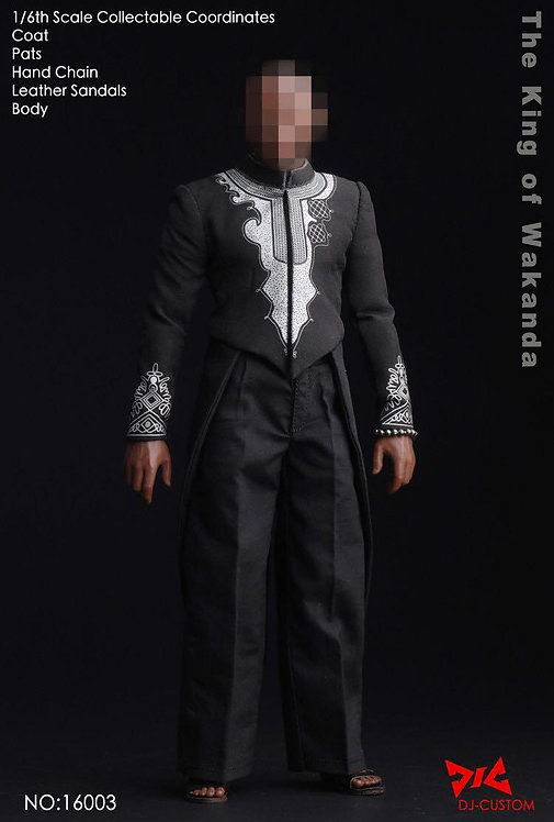 DJ-CUSTOM DJ-16003 The King of Wakanda Black Panther 1/6 Costume Set