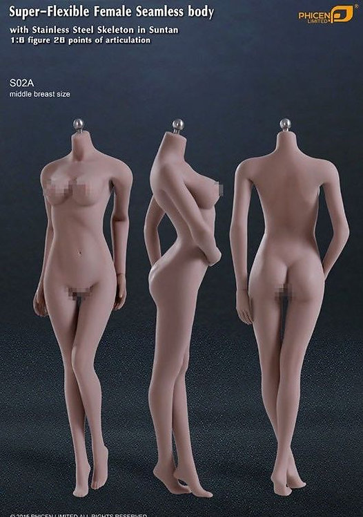 S02A TBLeague Phicen 1/6 female seamless body