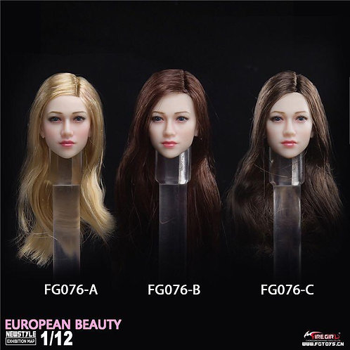 Fire Girl Toys FG076 European Beauty Anna 1/12 Headsculpt