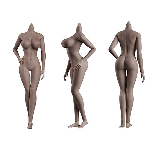 Jiaou JOQ-10E-PS (Black Skin) European Shape 1/6 Female Seamless Body