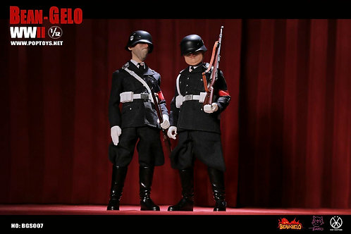 POPTOYS BGS009 / BGS010 Bean-Gelo Series Part 3 Black SS Skinny / Fatso 1/12 Fig