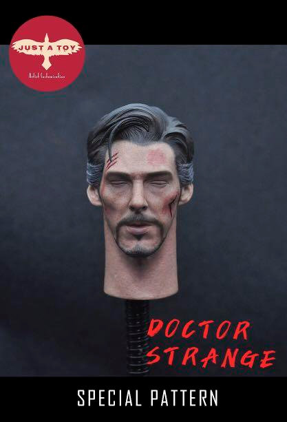 JUST A TOY JAT01B Closed Eyes Doctor Strange 1/6 Headsculpt Special Pattern (Battle Damaged)
