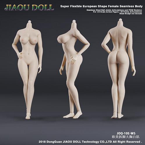 Jiaou JOQ-10E-WS (White Skin) European Shape 1/6 Female Seamless Body