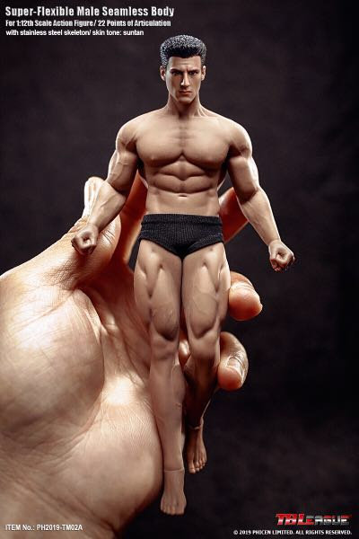 TM02A TBLeague Phicen 1/12 Scale Super Flexible Male Seamless Body with Head