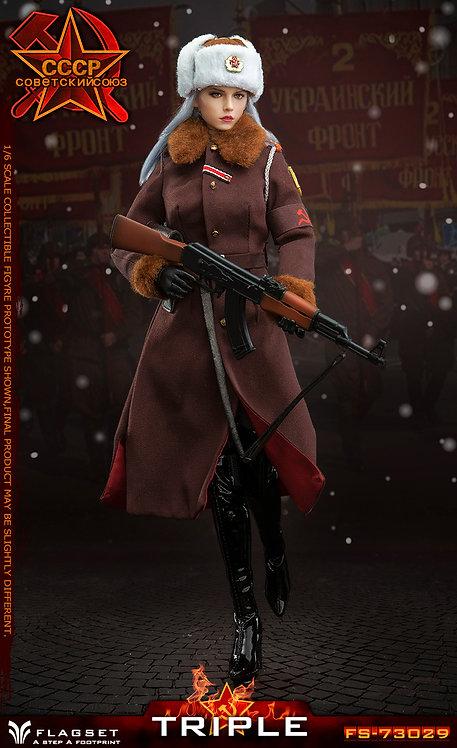 FLAGSET FS-73029 Red Alert Soviet female officer Katyusha TRIPLE 1/6 Figure