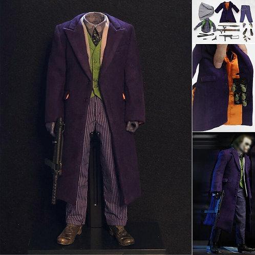BEST-A 1/6 Joker Clown Purple Coat Set Hand Gun Cannon