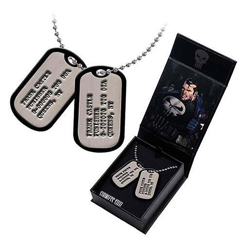 Body Vibe - Punisher Frank Castle Dog Tags Necklace Replica