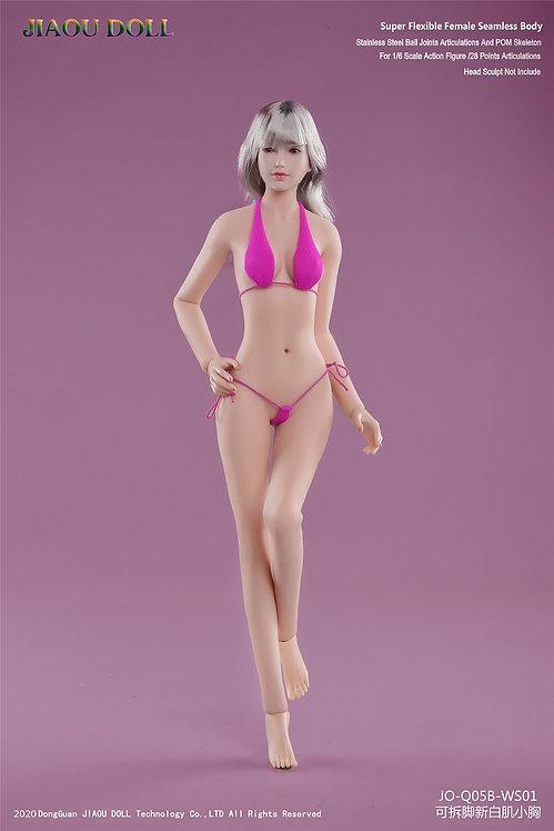 JIAOU JOQ-05B Asian Shape 1/6 Female Seamless Body Detachable Feet Small Bust