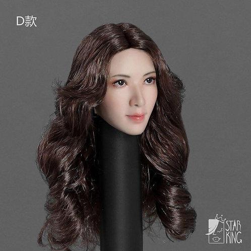 StarKingToys SK001D Brown Hair 1/6 Headsculpt