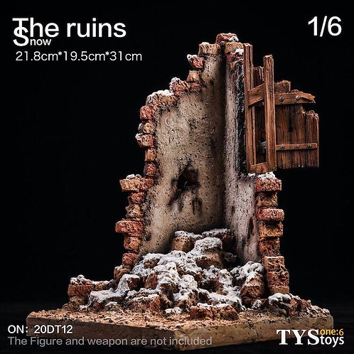 TYSTOYS 20DT12 - 1/6 Snow Ruins Platform with Movable Wooden Window