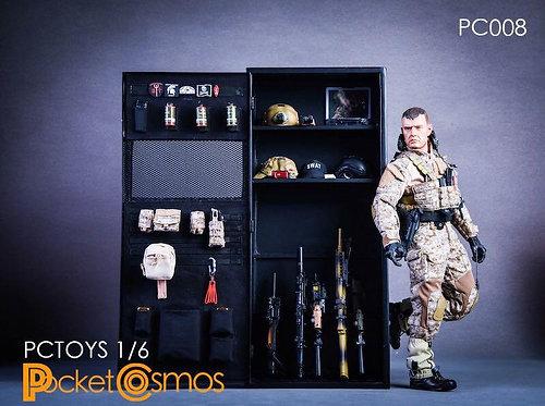 PCTOYS PC008 - 1/6 Metal Weapon Cabinet 2.0 Locker