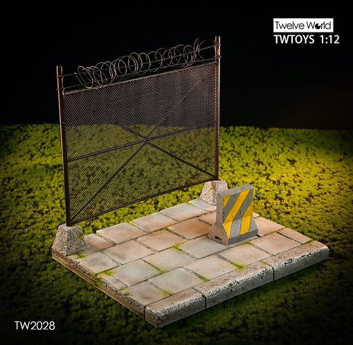 TWTOYS TW2028 - 1/12 Cement Floor Metal Wire Fence