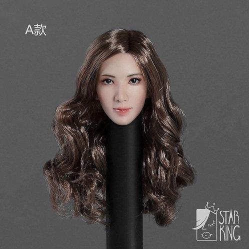 StarKingToys SK001A Gold Brown Hair 1/6 Headsculpt