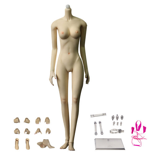 Jiaou JOQ-10C-WS (White Skin) Asian Shape 1/6 Female Seamless Body