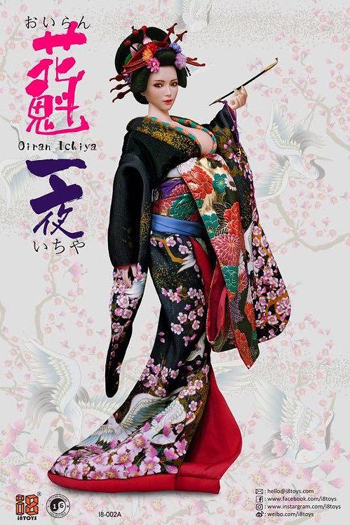 I8-C002 Oiran Ichiya Long Furisode 1/6 Clothing Set