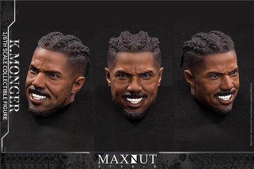 Maxnut Studio K.MONGER 1/6 Black Panther Anti-Gold Leopard Headsculpt (Bare)