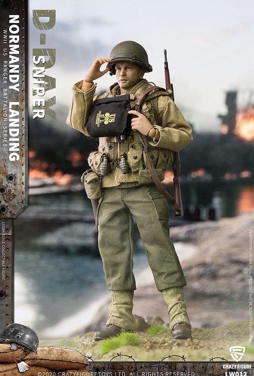 CRAZY FIGURE LW012 WWII U.S. Rangers On D-Day Sniper 1/12 Figure