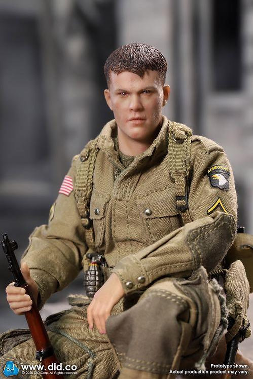 DID XA80001 Palm Hero WWII US 101st Airborne Division Ryan 1/12 Figure