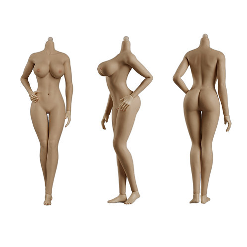Jiaou JOQ-10E-BM (Brown Skin) European Shape 1/6 Female Seamless Body