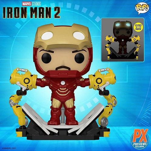Funko Iron Man 2 MK IV with Gantry Glow-in-the-Dark Deluxe Pop! Vinyl Figure