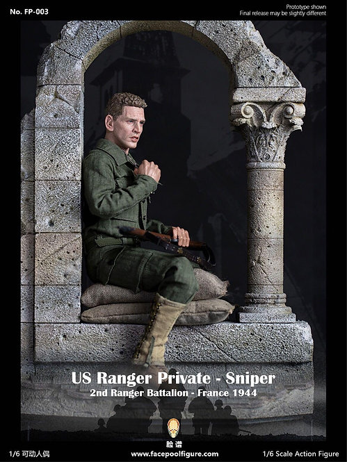 FacePoolFigure FP003B 1/6 US Ranger Private Sniper – France 1944 Special Edition