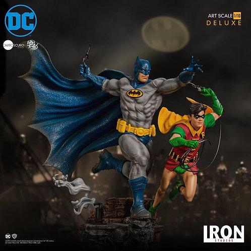 Iron Studios 1/10 DX art scale Batman & Robin statue