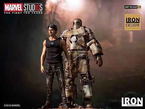 Iron Studios SHCC Exclusive 1/10 Scale Tony w/ MK1 Statue