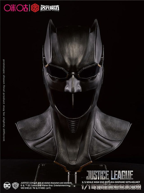 DC Licensed Justice League Batman Bat Cowl 1:1 Life Size Movie Replica